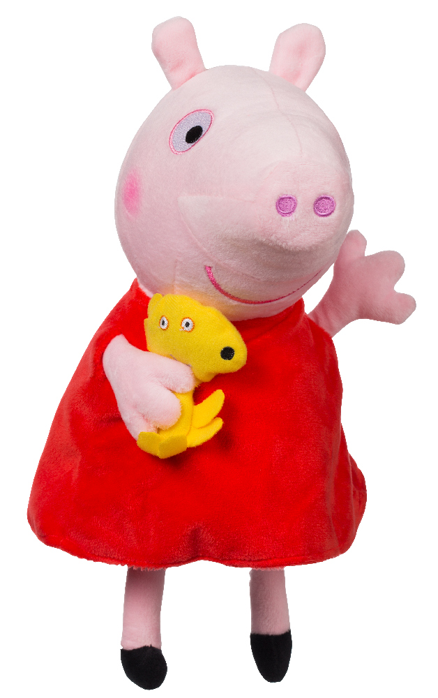 Plyšové prasátko Peppa s kamarádem Peppa Pig 35 cm
