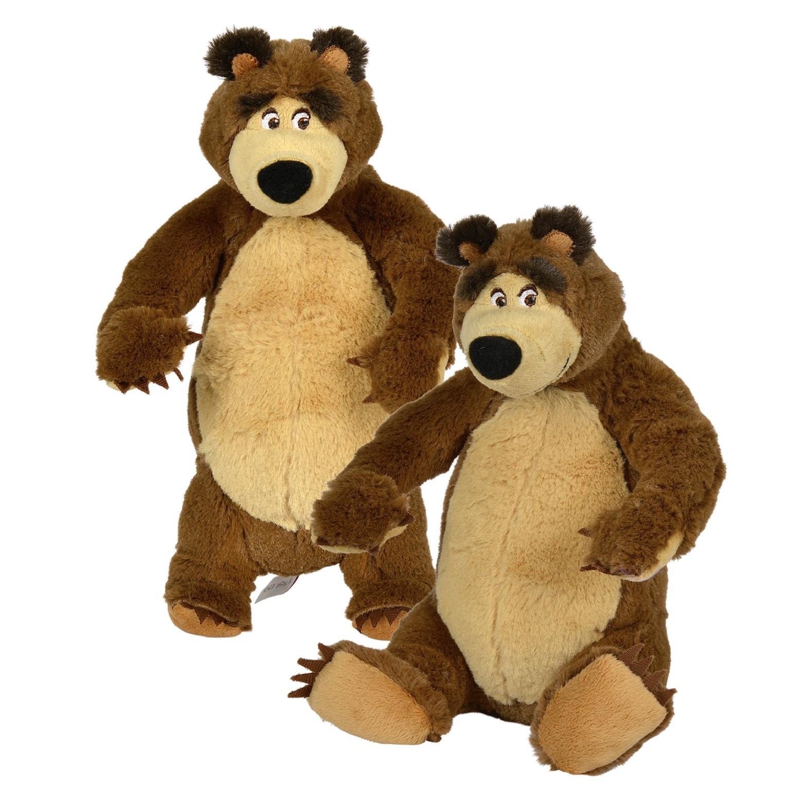 Máša a medvěd plyšový medvěd 25 cm