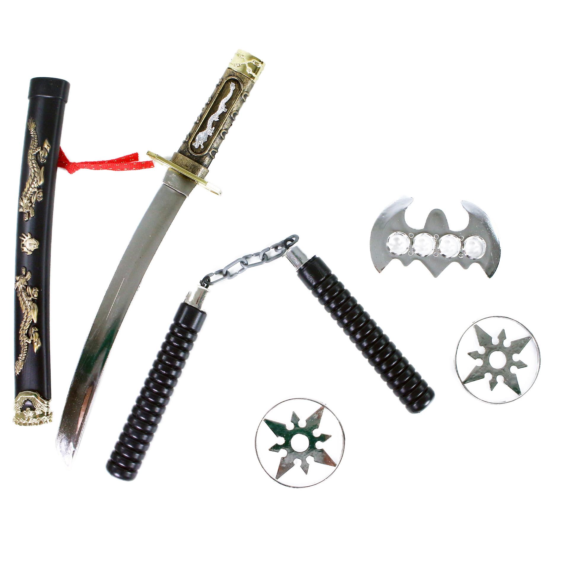Japonský meč katana s příslušenstvím