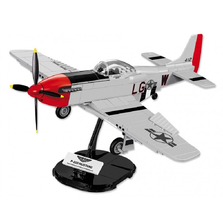 Stavebnice TOP GUN P-51 Mustang, 1:35, 265 k, 1 f