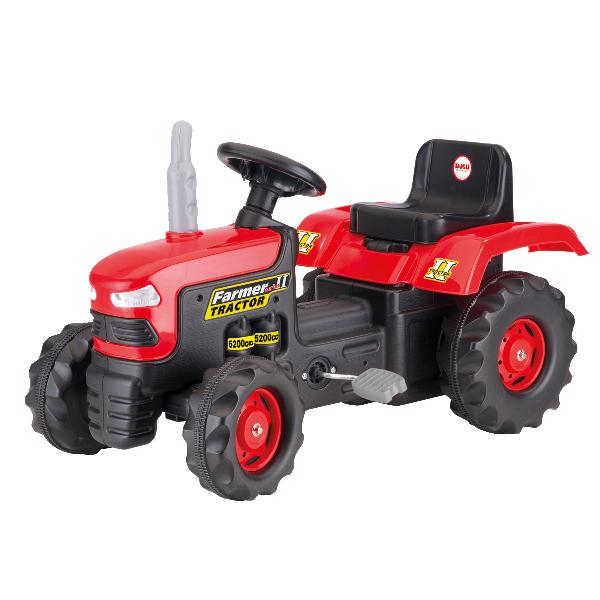 Velký červený šlapací traktor