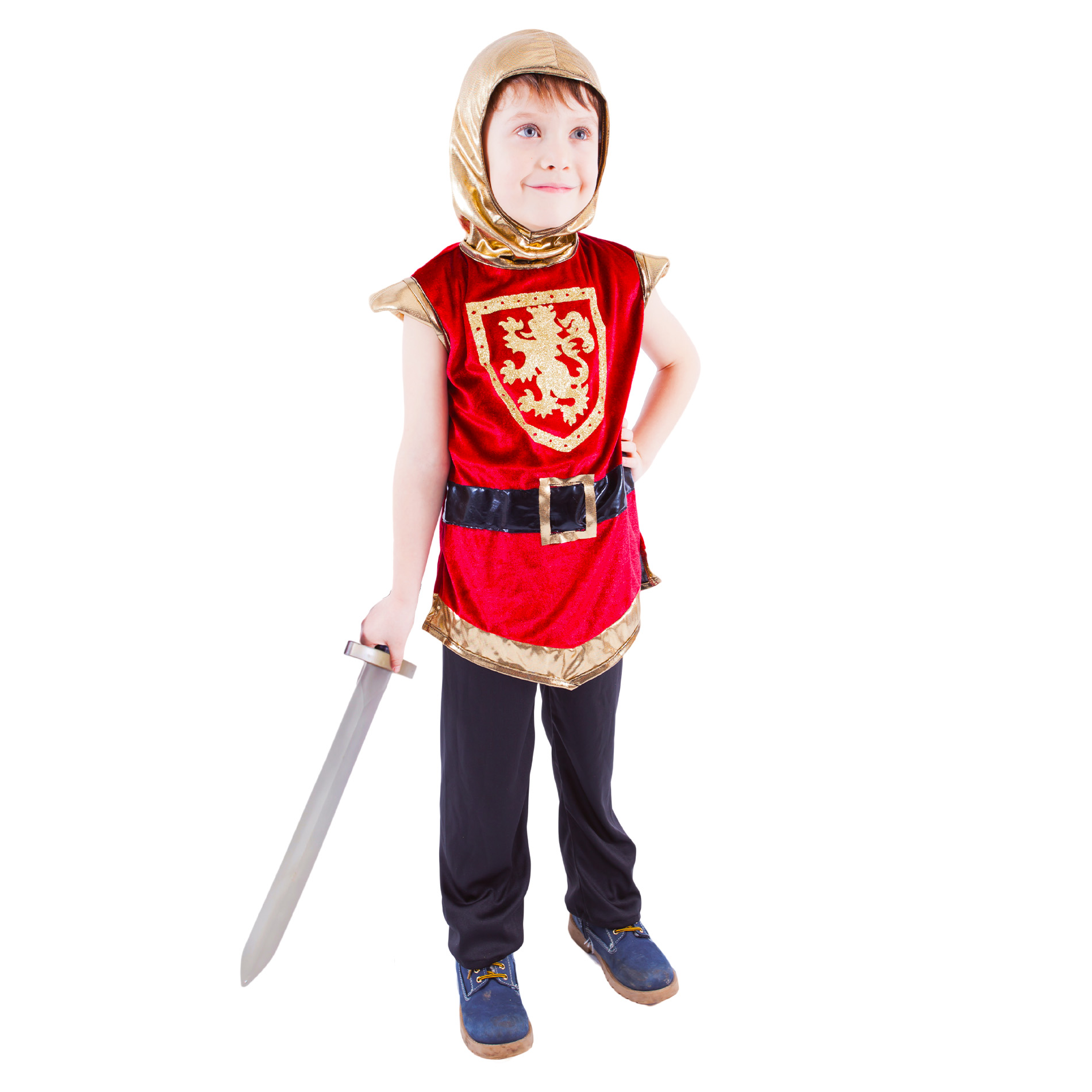 Dětský kostým rytíř s erbem červený (S)
