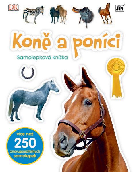 knížka samolepková Koně a poníci