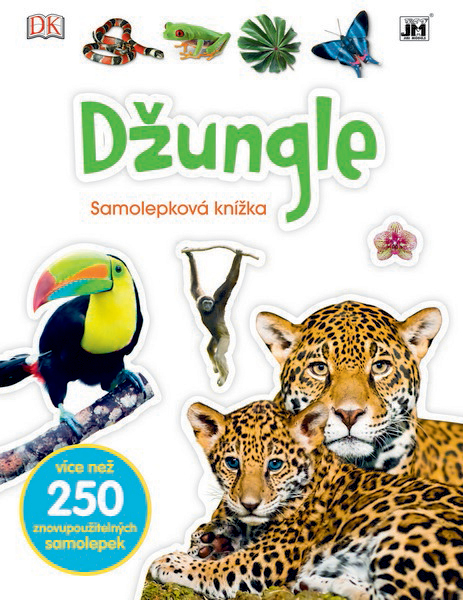 knížka samolepková Džungle