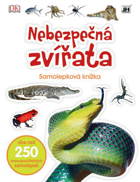 knižka samolepková Nebezpečná zvieratá