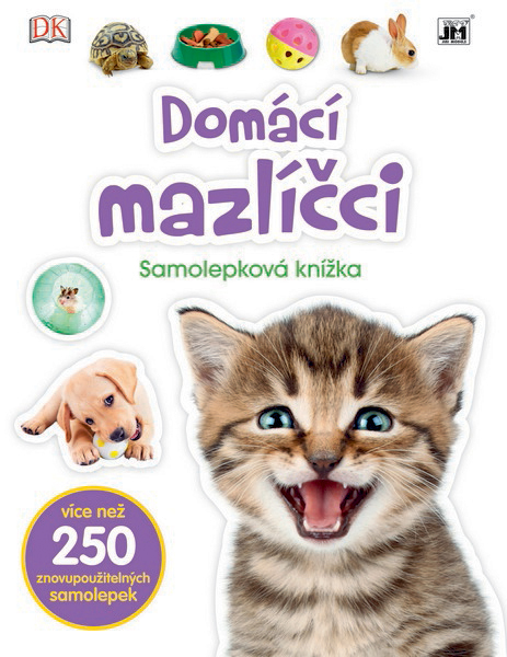 knížka samolepková Domácí mazlíčci