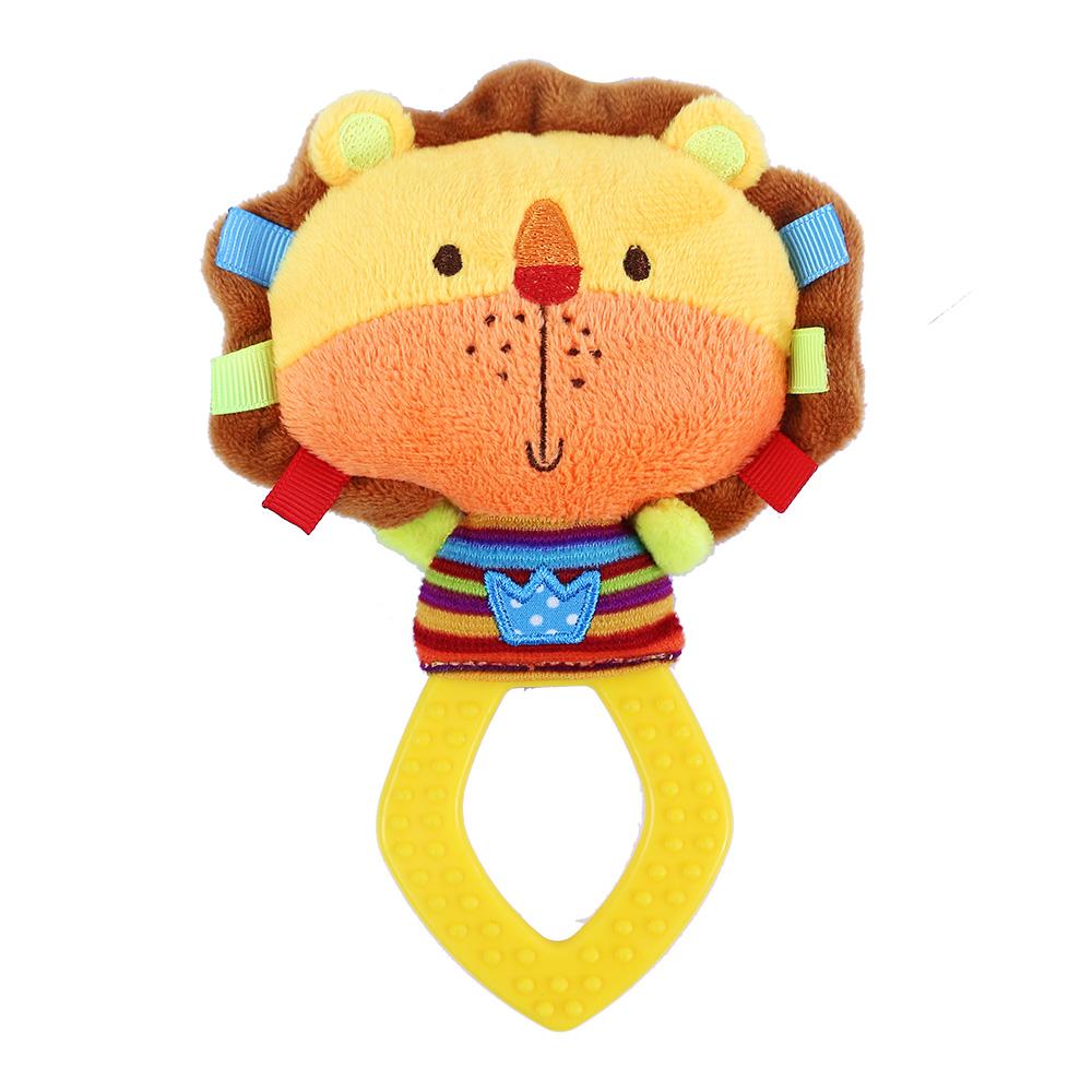Chrastítko plyšové s kousátkem BABY lev
