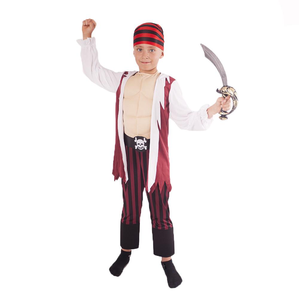 Dětský kostým pirát s šátkem a vycpanou hrudí (L)