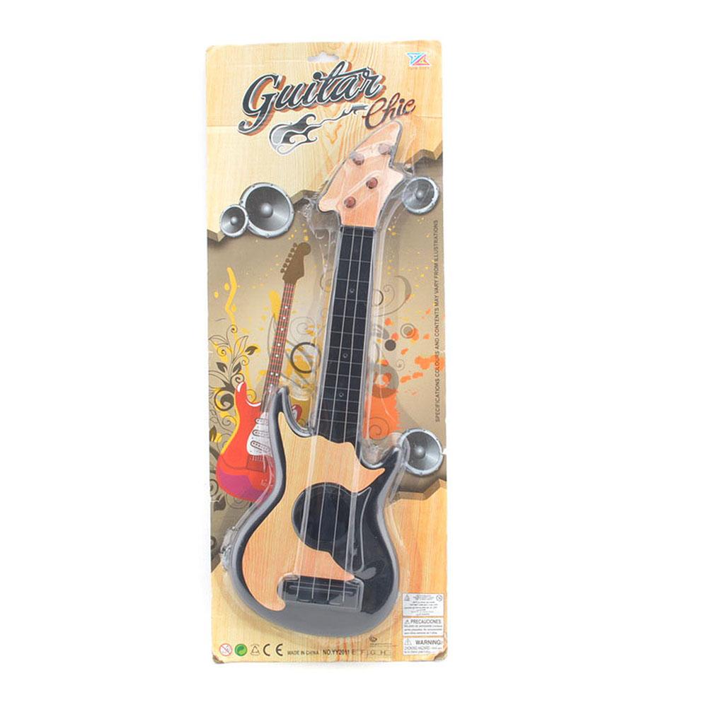 Kytara dětská plastová s ocelovou strunou 2 barvy