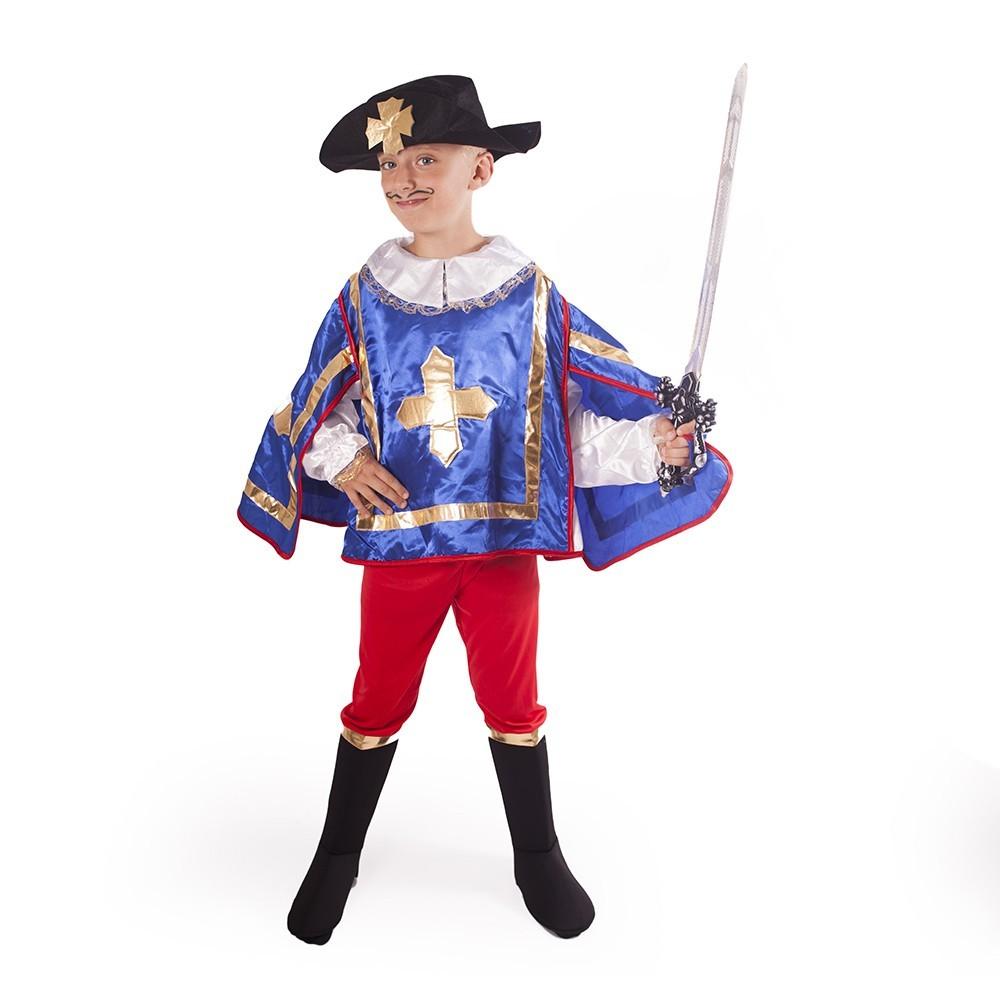 Dětský kostým mušketýr modrý (M)