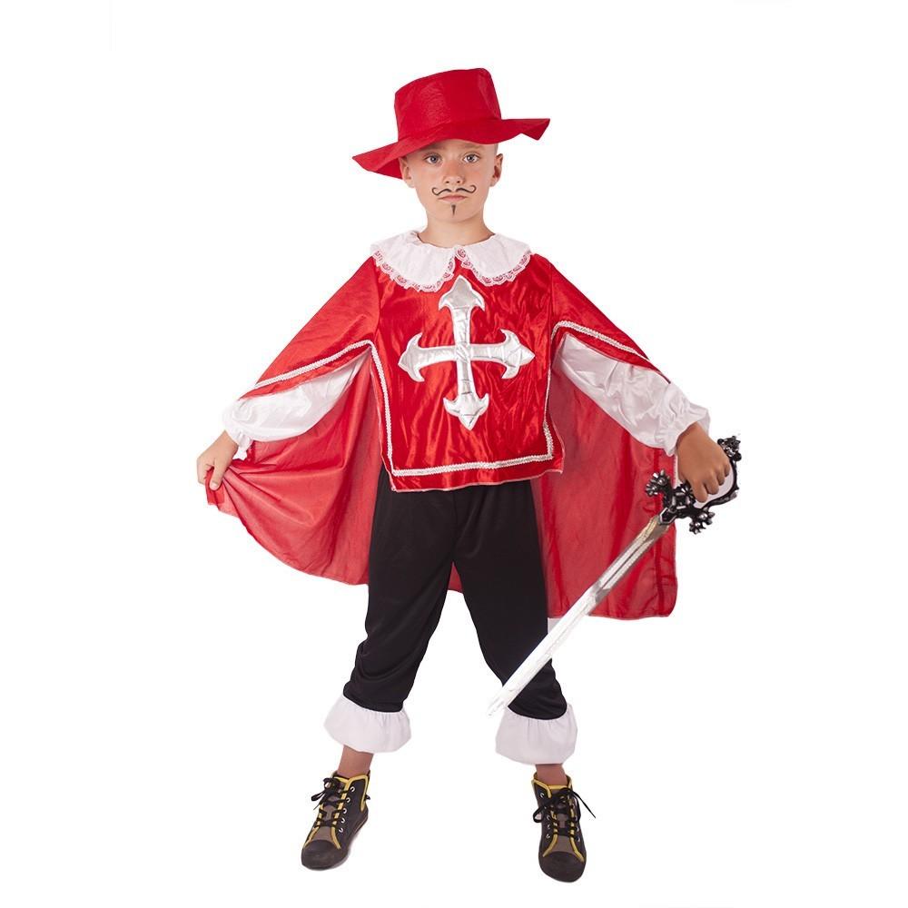 Dětský kostým mušketýr červený (M)
