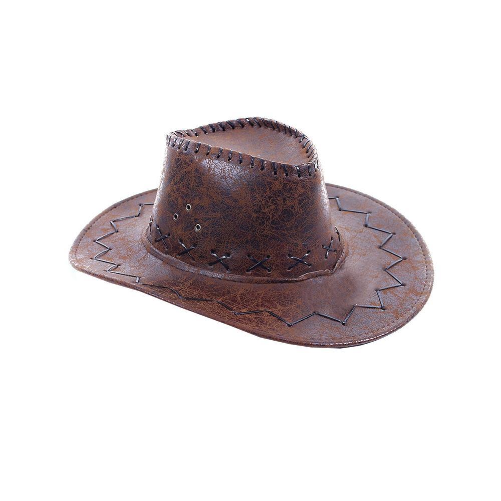 kovbojský klobouk hnědýdětský
