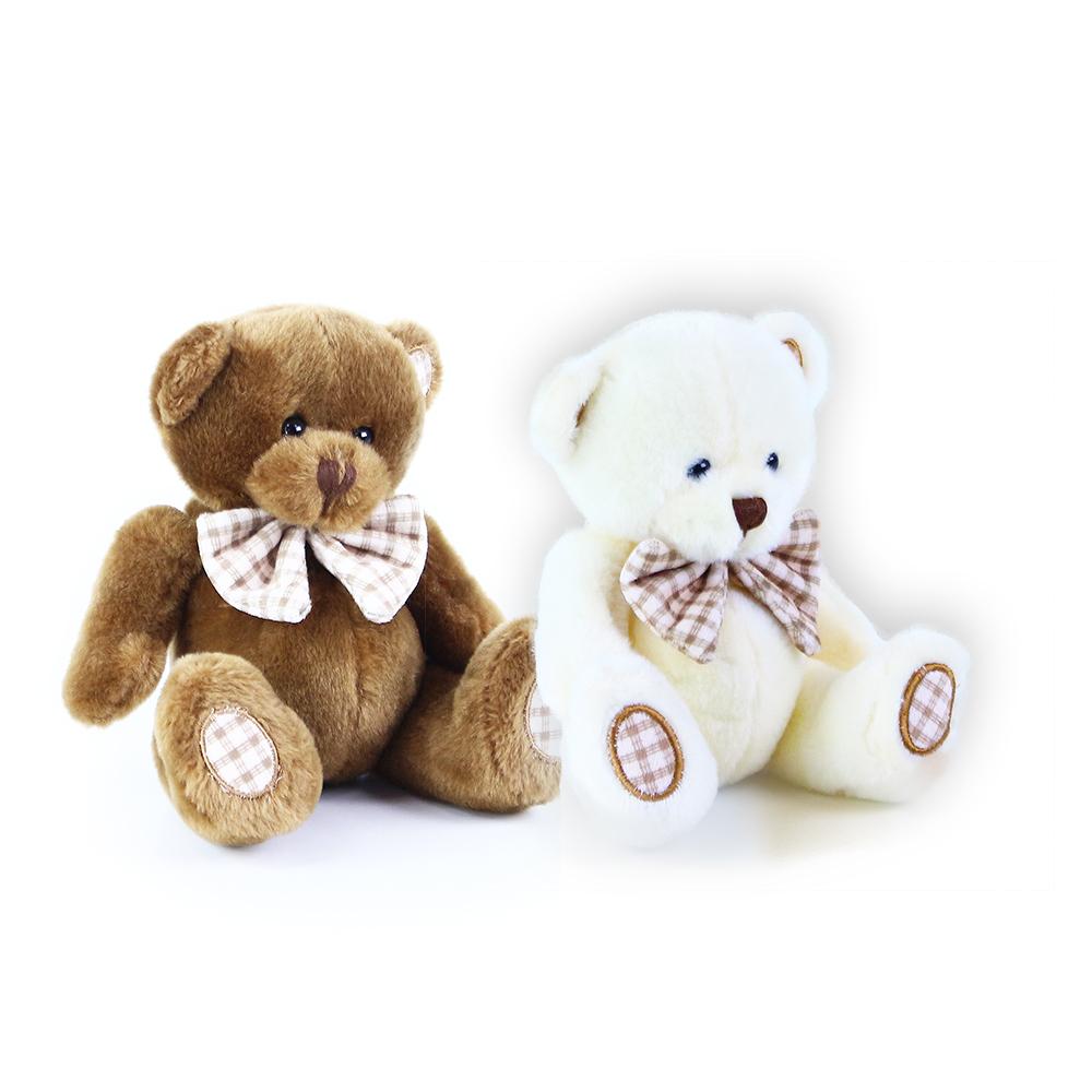 Plyšový medvěd s mašlí 14 cm