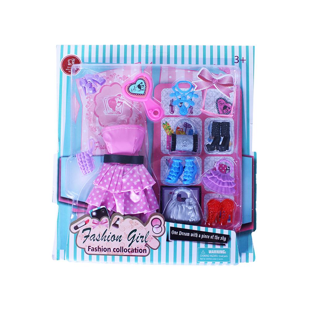 Obleček pro panenky s doplňky 2 druhy