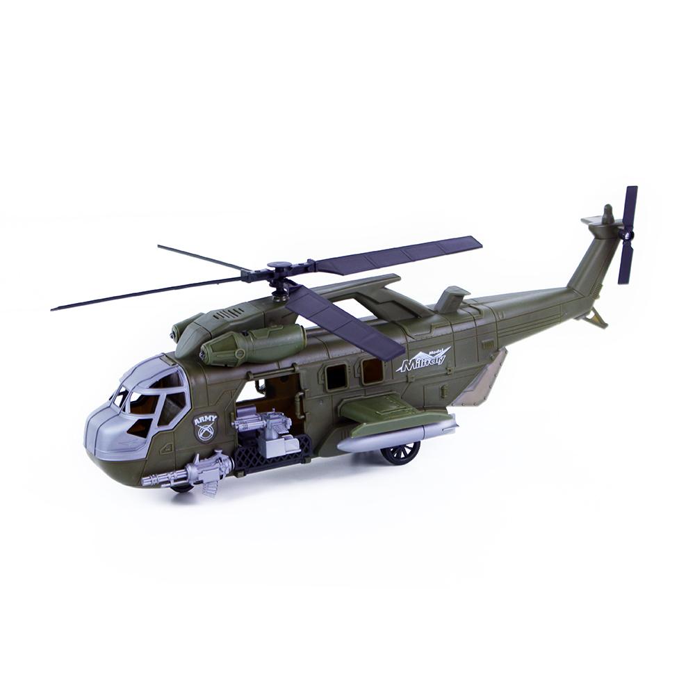 Vojenská helikoptéra se zvukem a světlem 42 cm