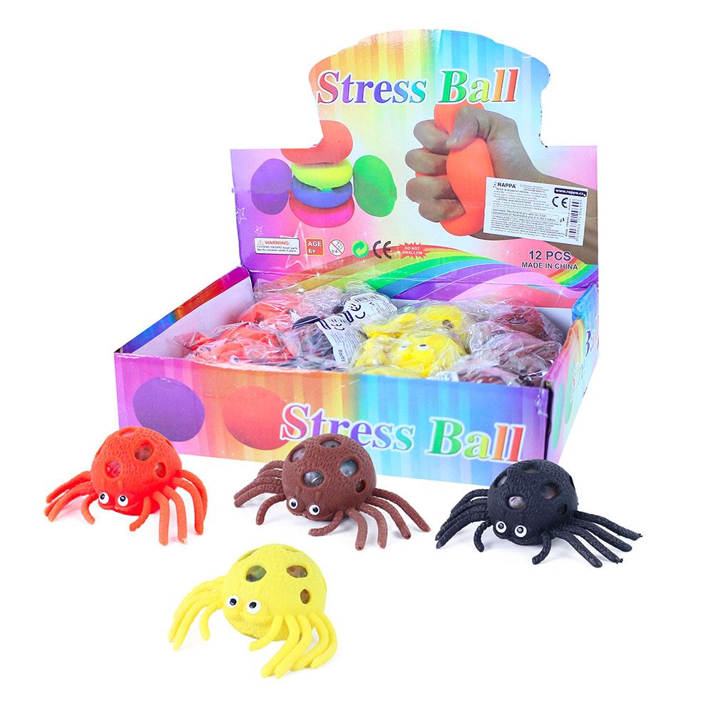Míček pavouk antistresový s kuličkovou výplní