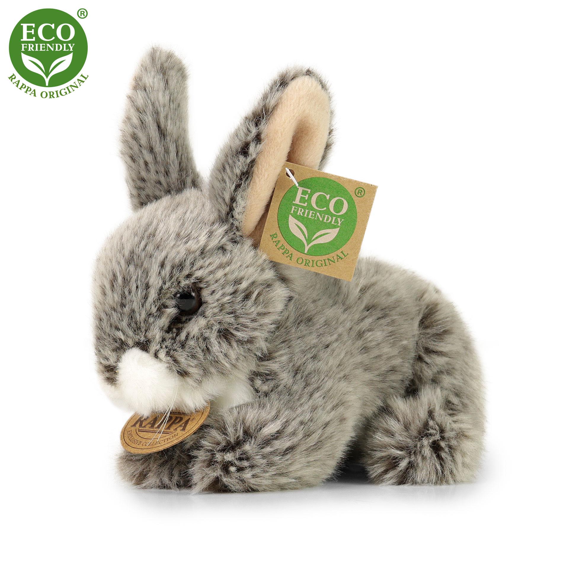 Plyšový králík tmavě šedý ležící 17 cm ECO-FRIENDLY