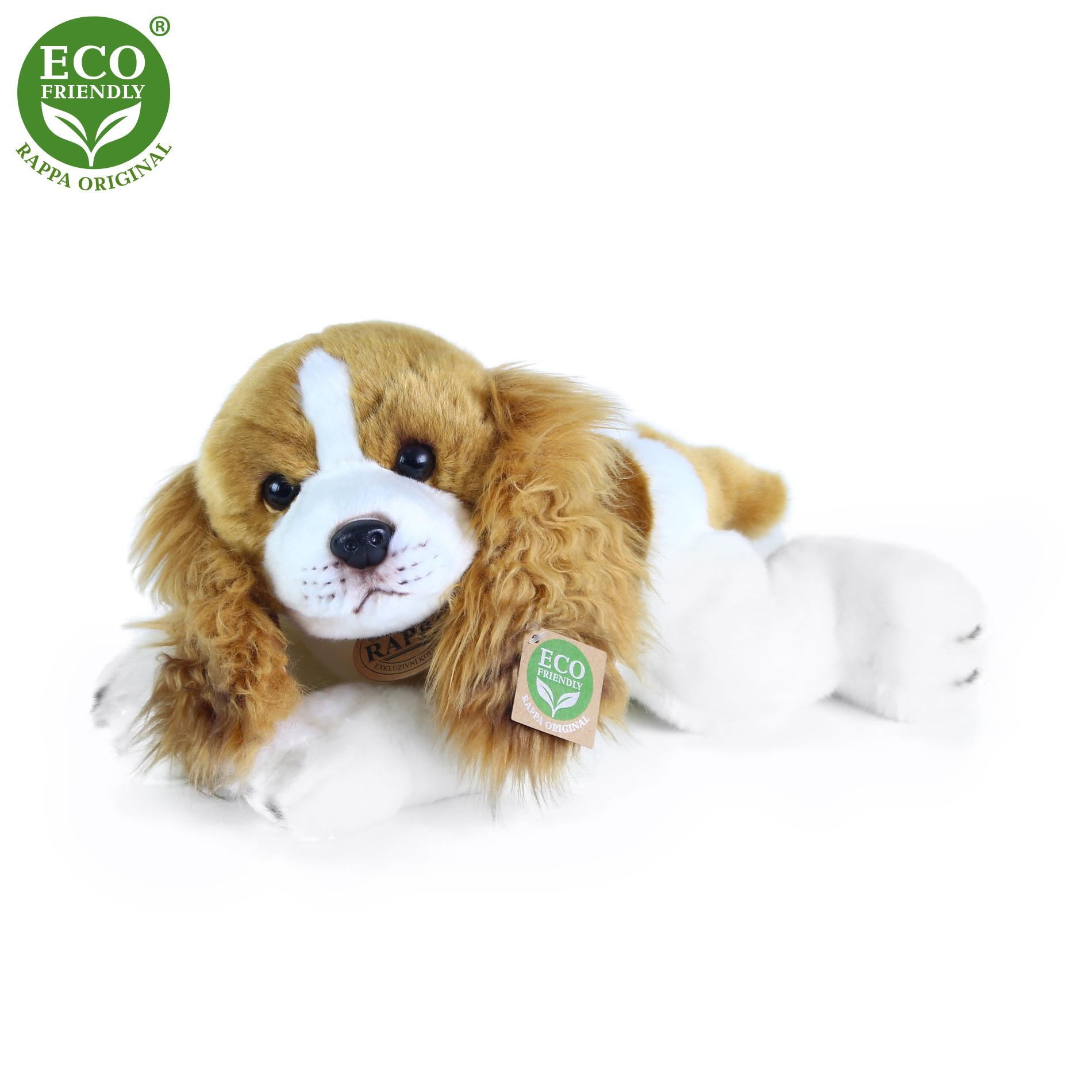 Plyšový pes Kavalír King Charles španěl ležící 30 cm ECO-FRIENDLY