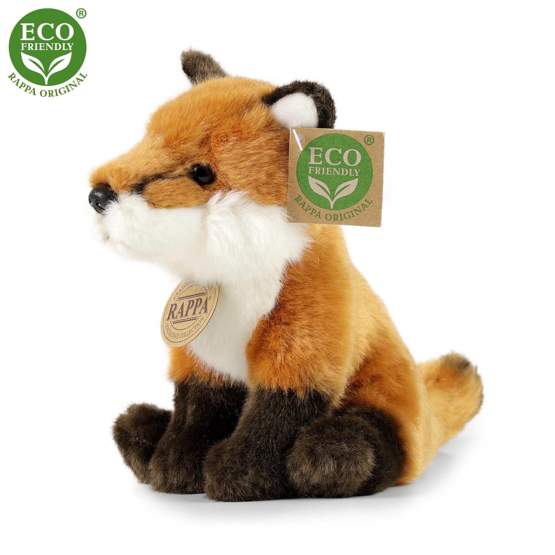 Plyšová liška sedící 18 cm ECO-FRIENDLY