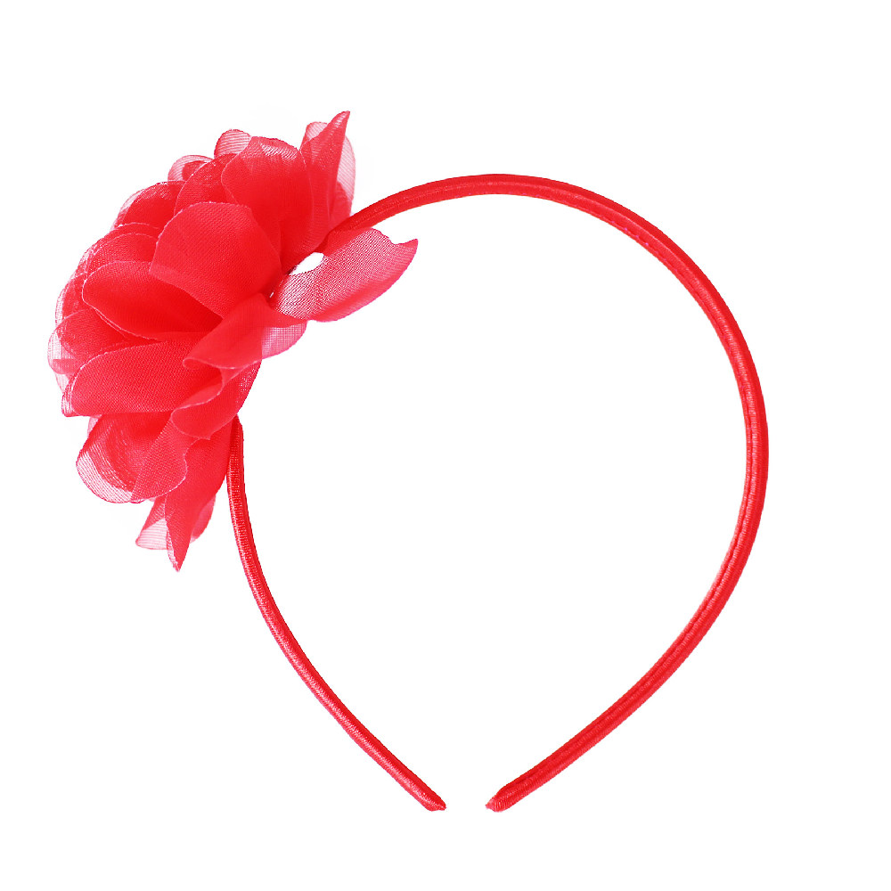 Čelenka květina červená
