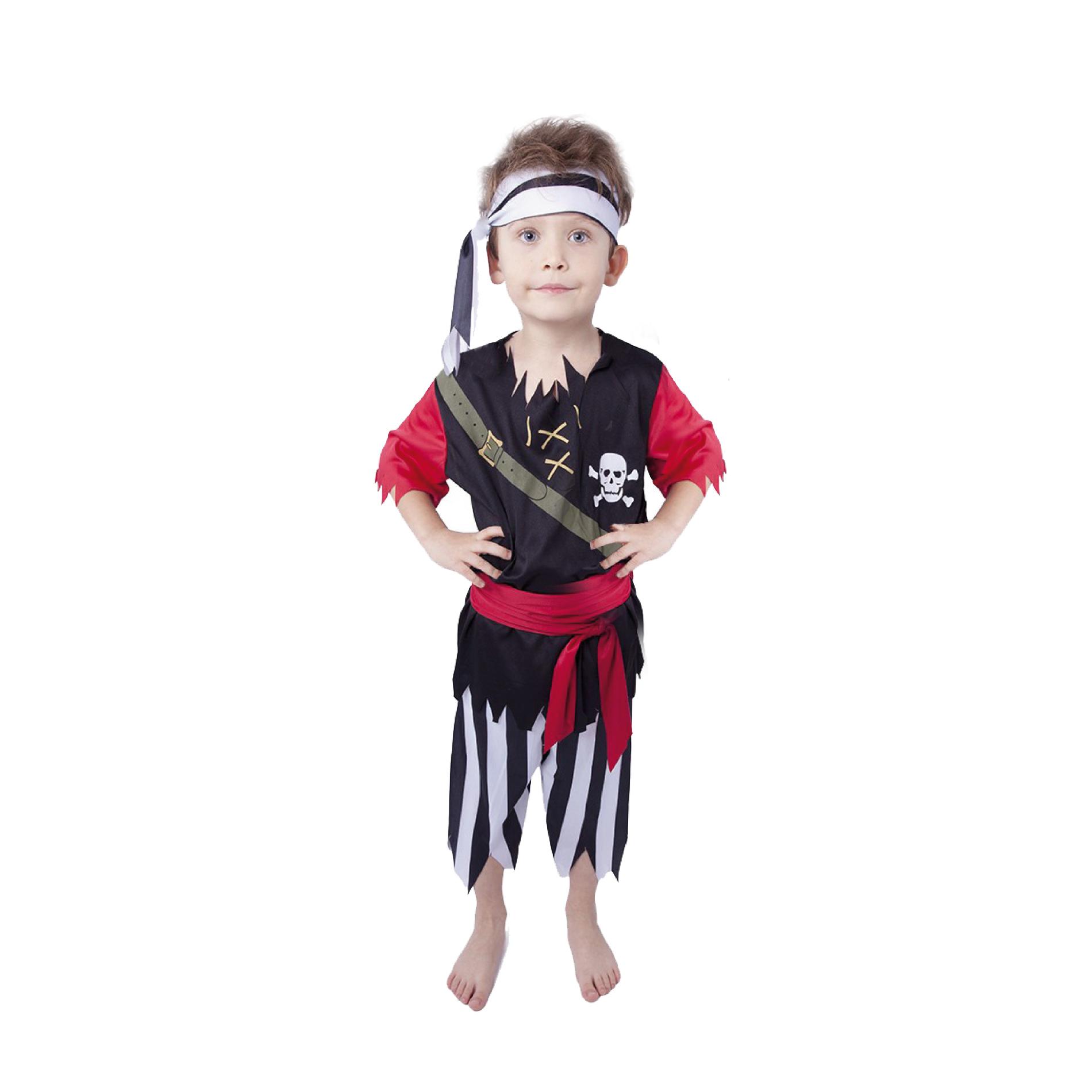 Dětský kostým pirát s šátkem (M) e-obal