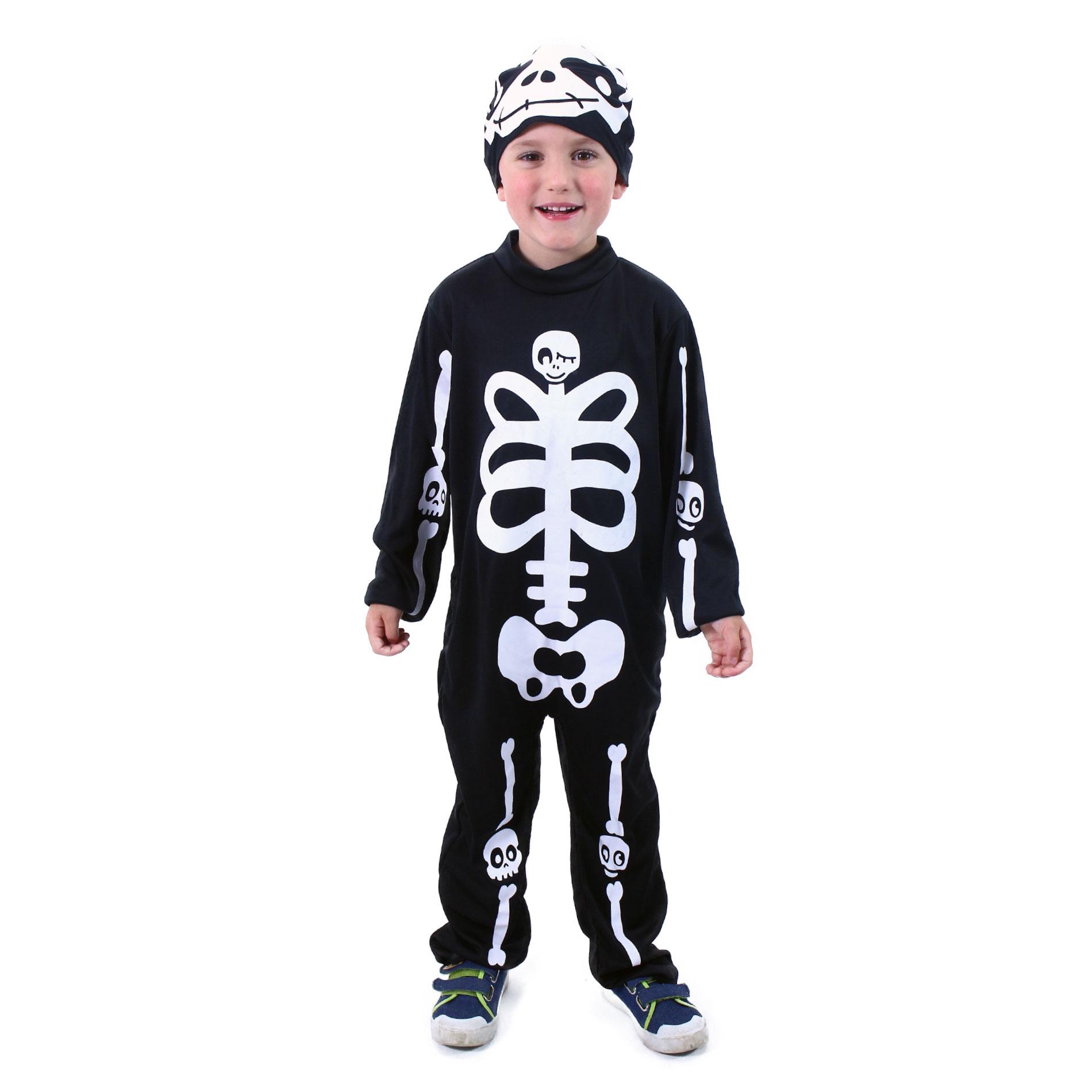 Dětský kostým kostlivec s čepicí (M) e-obal