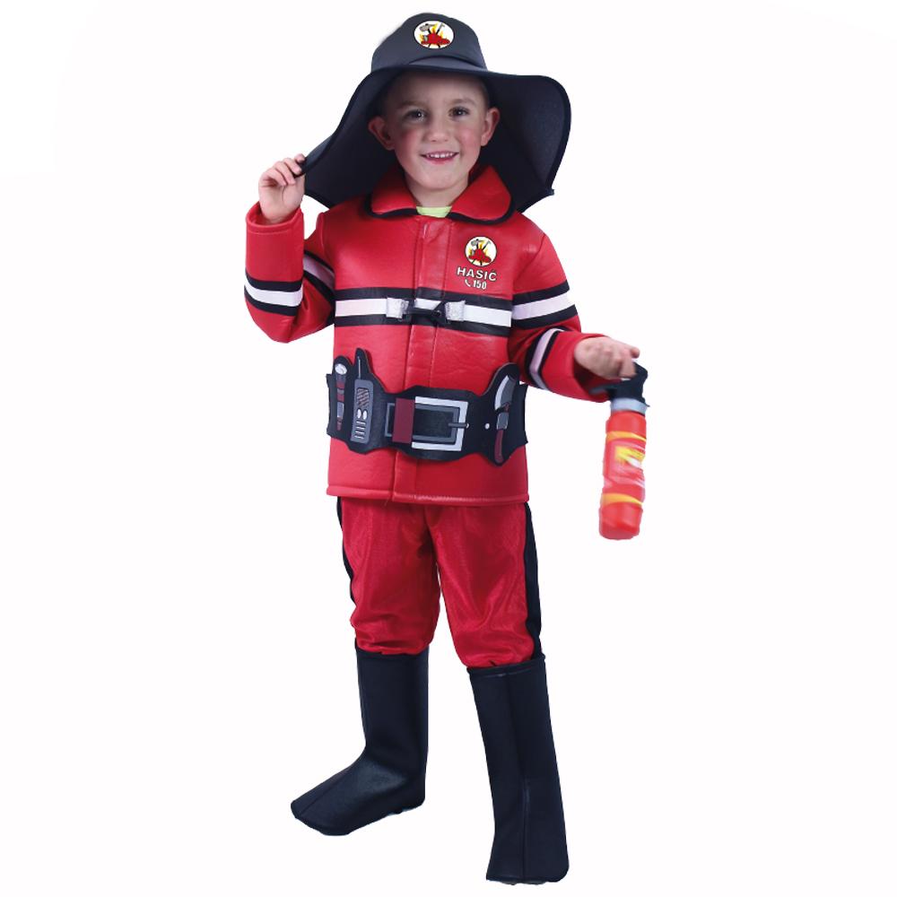 Dětský kostým hasič s českým potiskem (S)