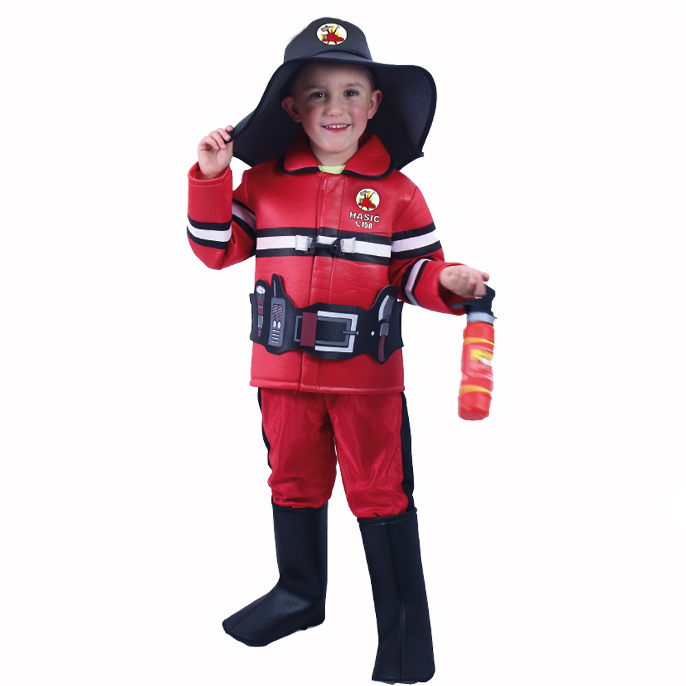 Dětský kostým hasič s českým potiskem (L)
