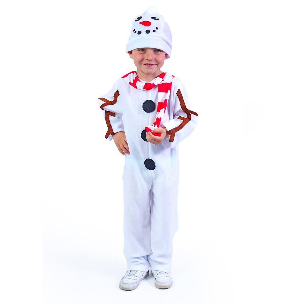 Dětský kostým sněhulák s čepicí a červenou šálou (S) e-obal