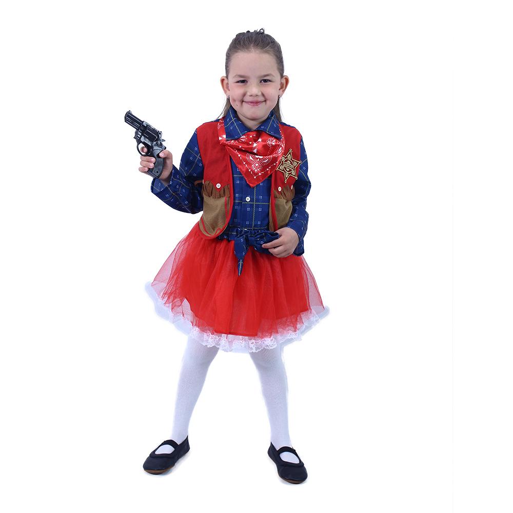 Dětský kostým kovbojka (L)