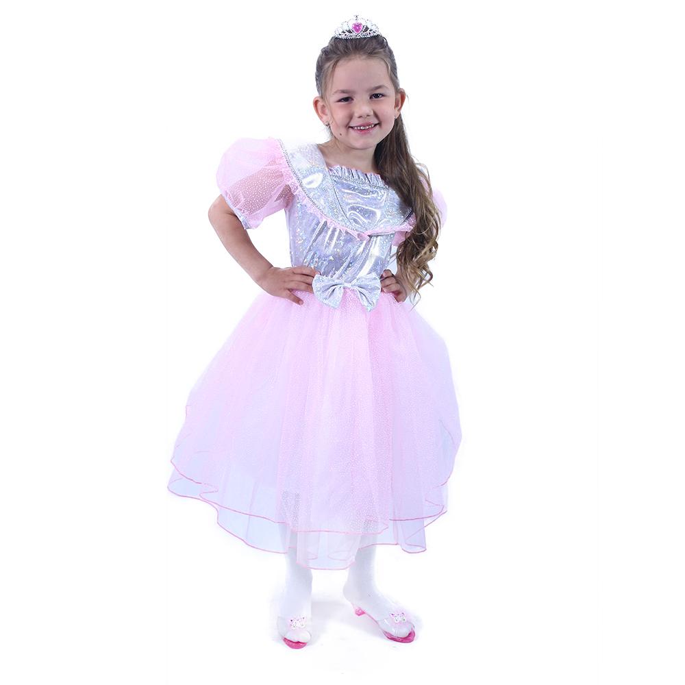 Dětský kostým princezna růžová s mašlí (S)