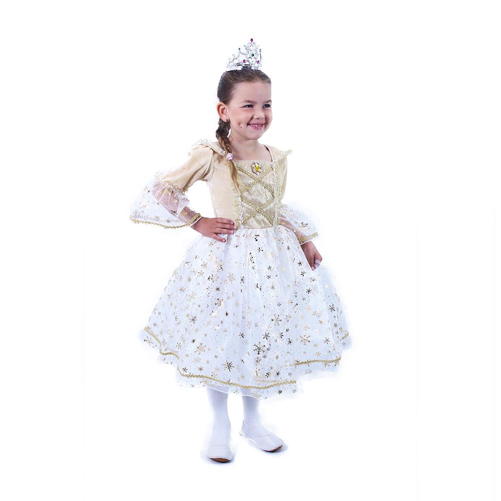 Dětský kostým princezna zlatá (S)