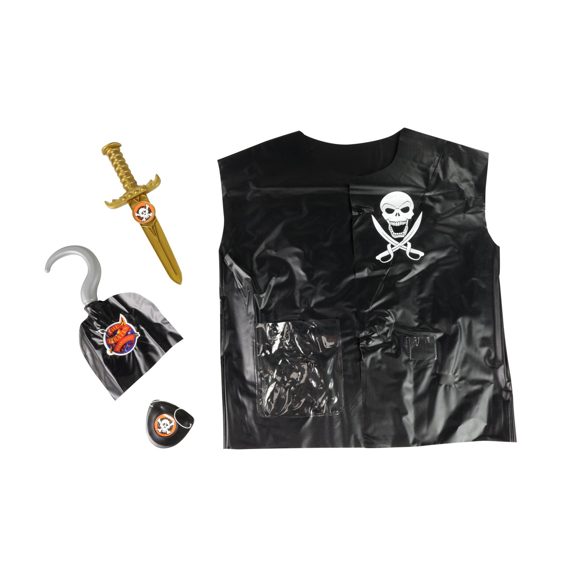 Dětská sada vesta pirátská s příslušentsvím