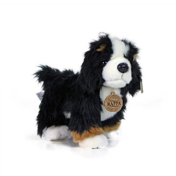 Plyšový bernský salašnický pes stojící 24 cm
