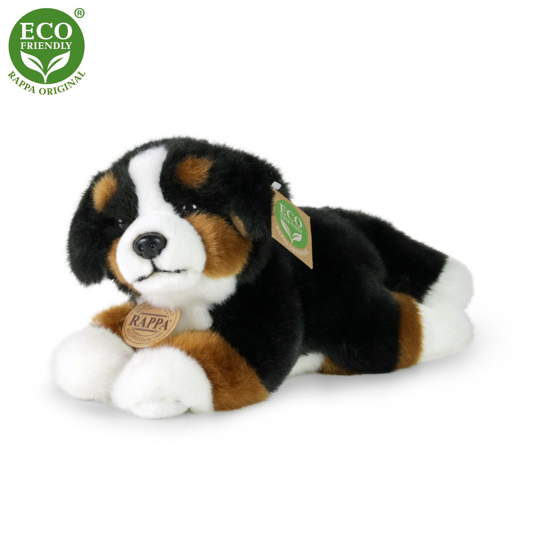 Plyšový bernský salašnický pes ležící 23 cm ECO-FRIENDLY