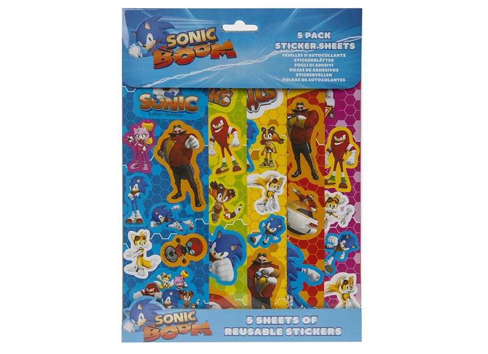 Samolepky Ježek Sonic 5 listů/archů