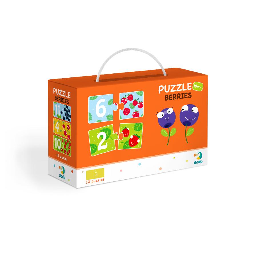 Puzzle Duo Čísla Veselé ovoce-12x2 dílků