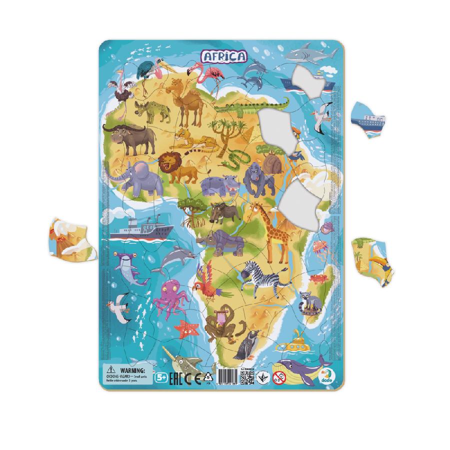 Puzzle rámové Zvířata Afriky 53 dílků