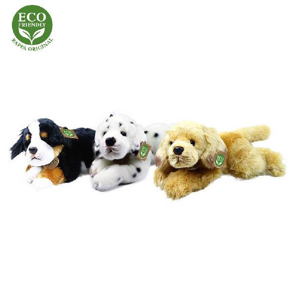 Plyšový pes ležící 30 cm ECO-FRIENDLY