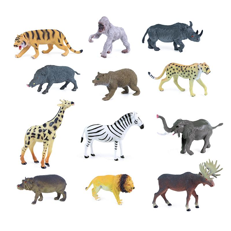 Zvířata divoká 12 druhů 13 - 20 cm