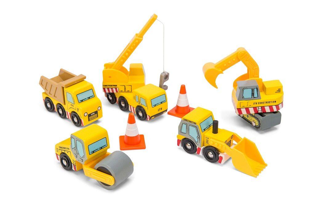 Le Toy Van Set stavebních strojů