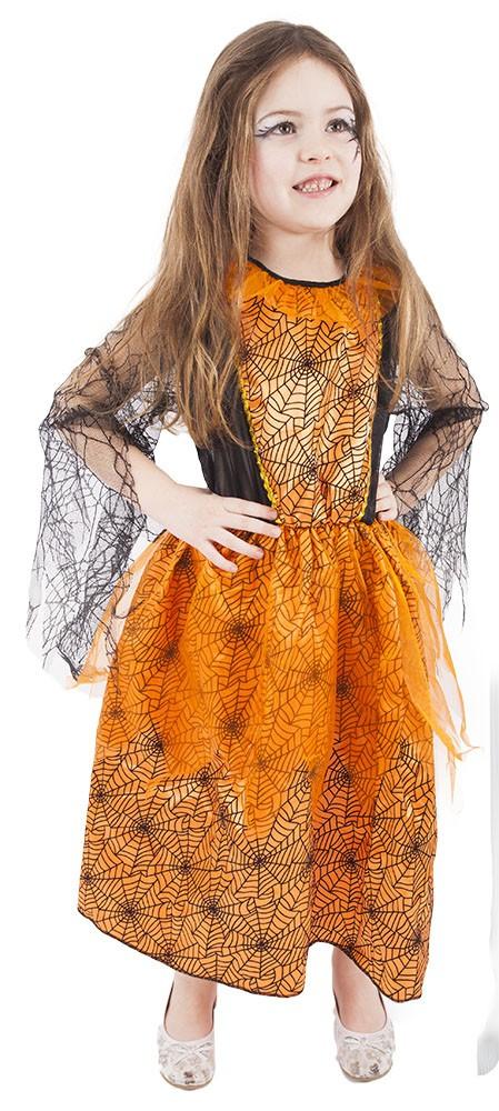 Dětský kostým Halloween oranžový (M)