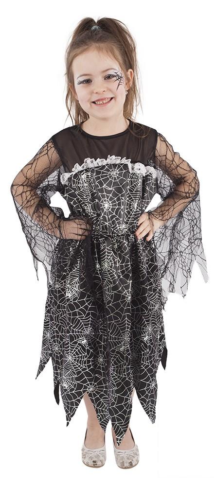 Dětský kostým čarodějnice s pavučinou čarodějnice / Halloween (S)