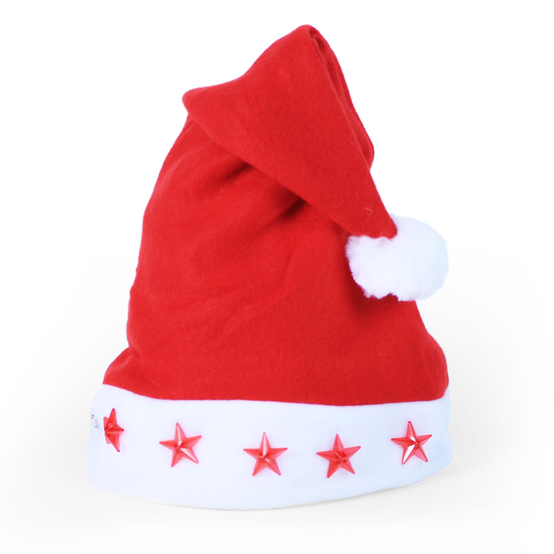 Čepice vánoční blikající 43 cm