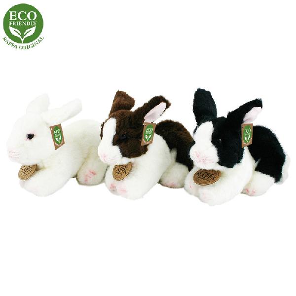 Plyšový králík ležící 3 druhy 16 cm ECO-FRIENDLY