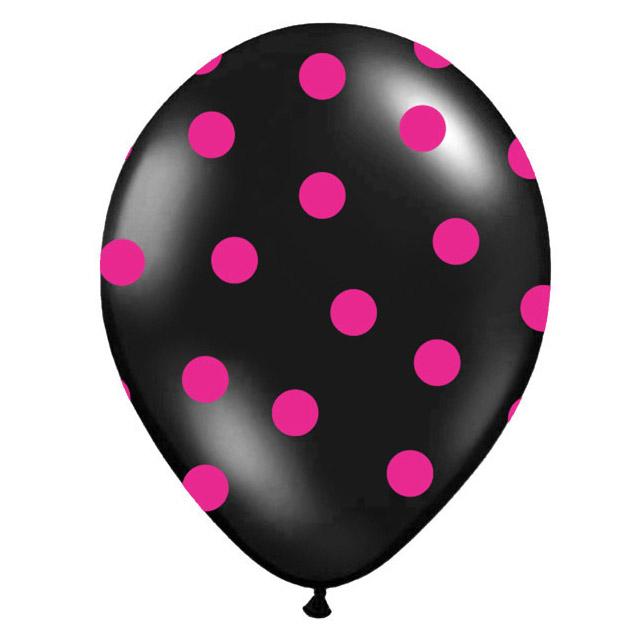 Nafukovací balónek s potiskem černý 30 cm
