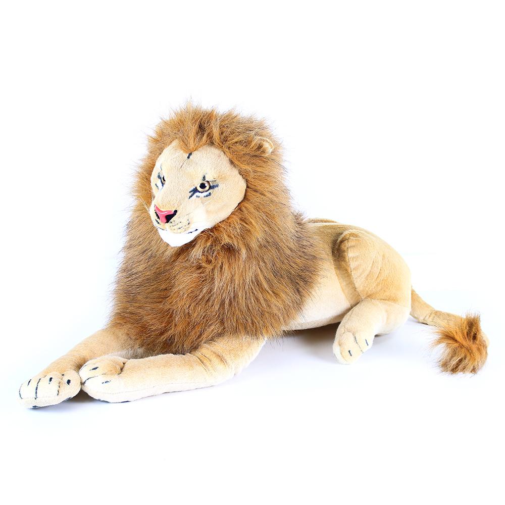 Velký plyšový lev ležící 90 cm