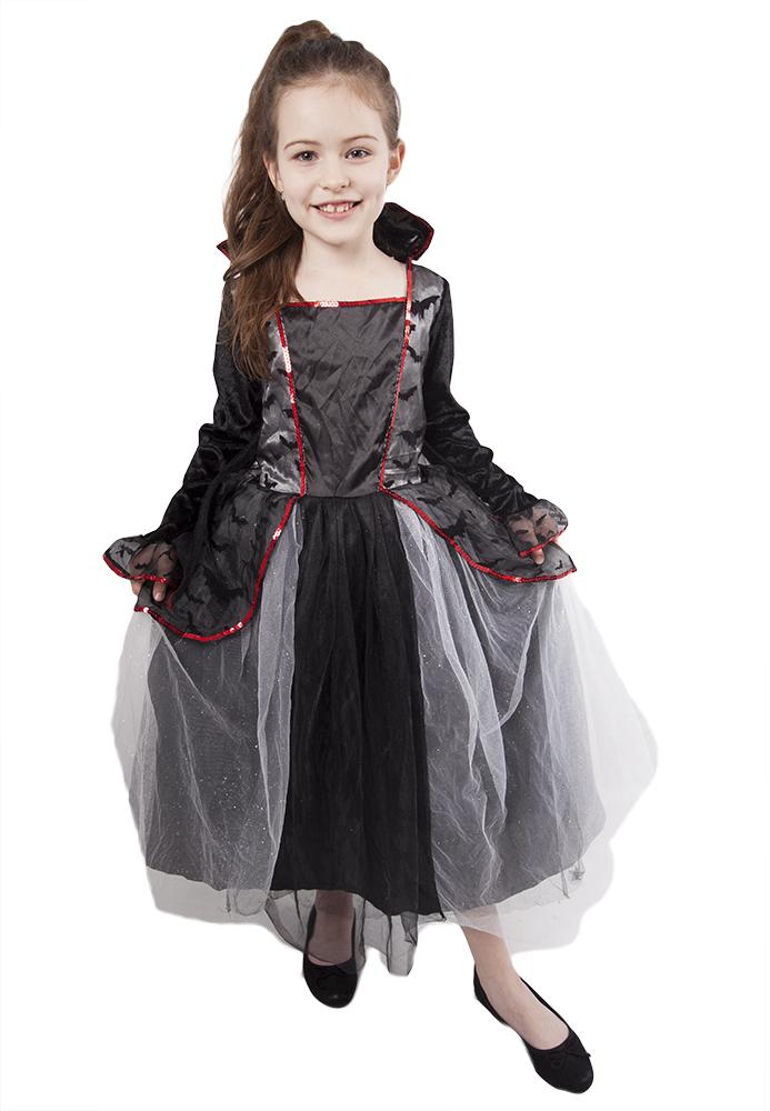 Dětský kostým s netopýry čarodějnice/Halloween (L)