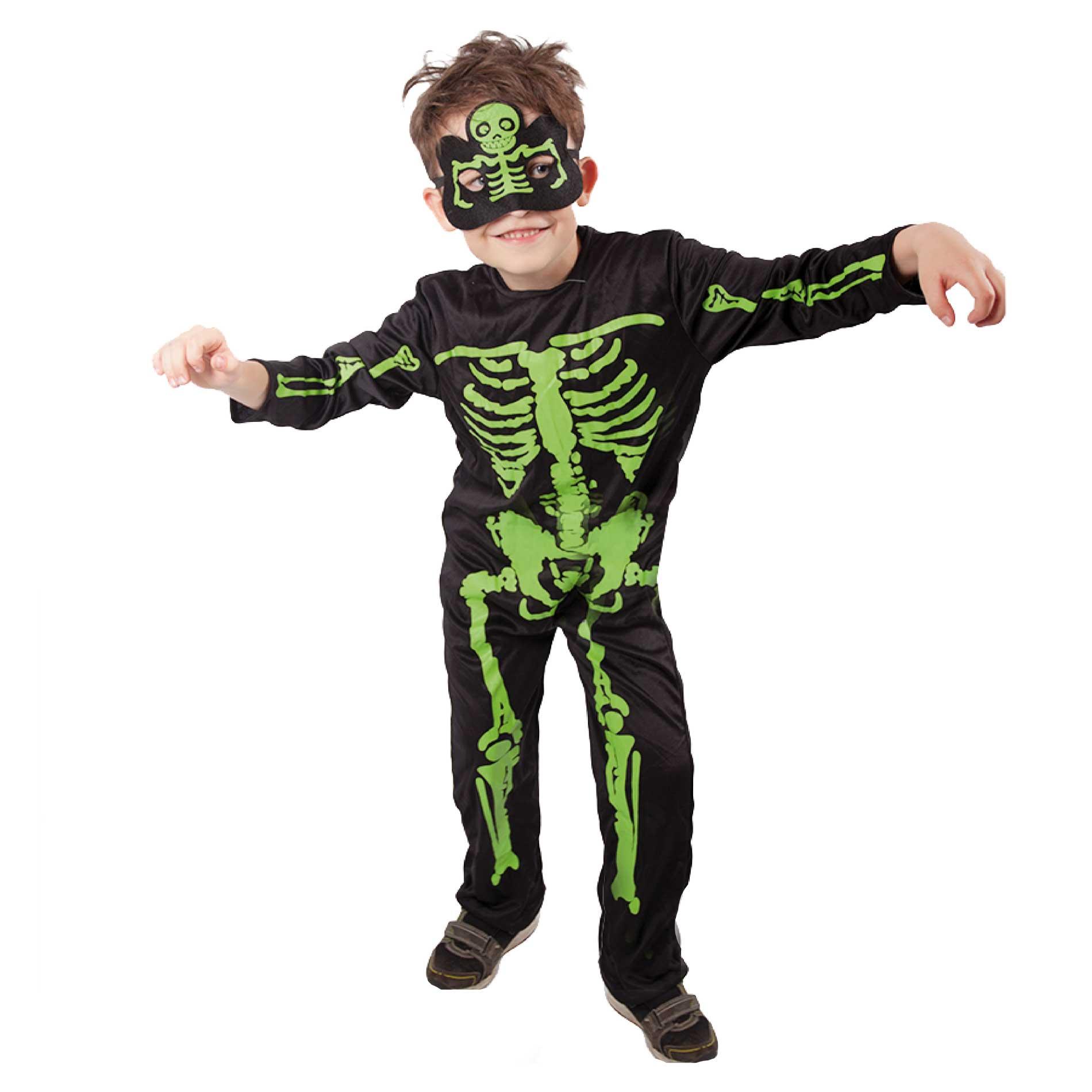 Dětský kostým Kostlivec NEON (S)