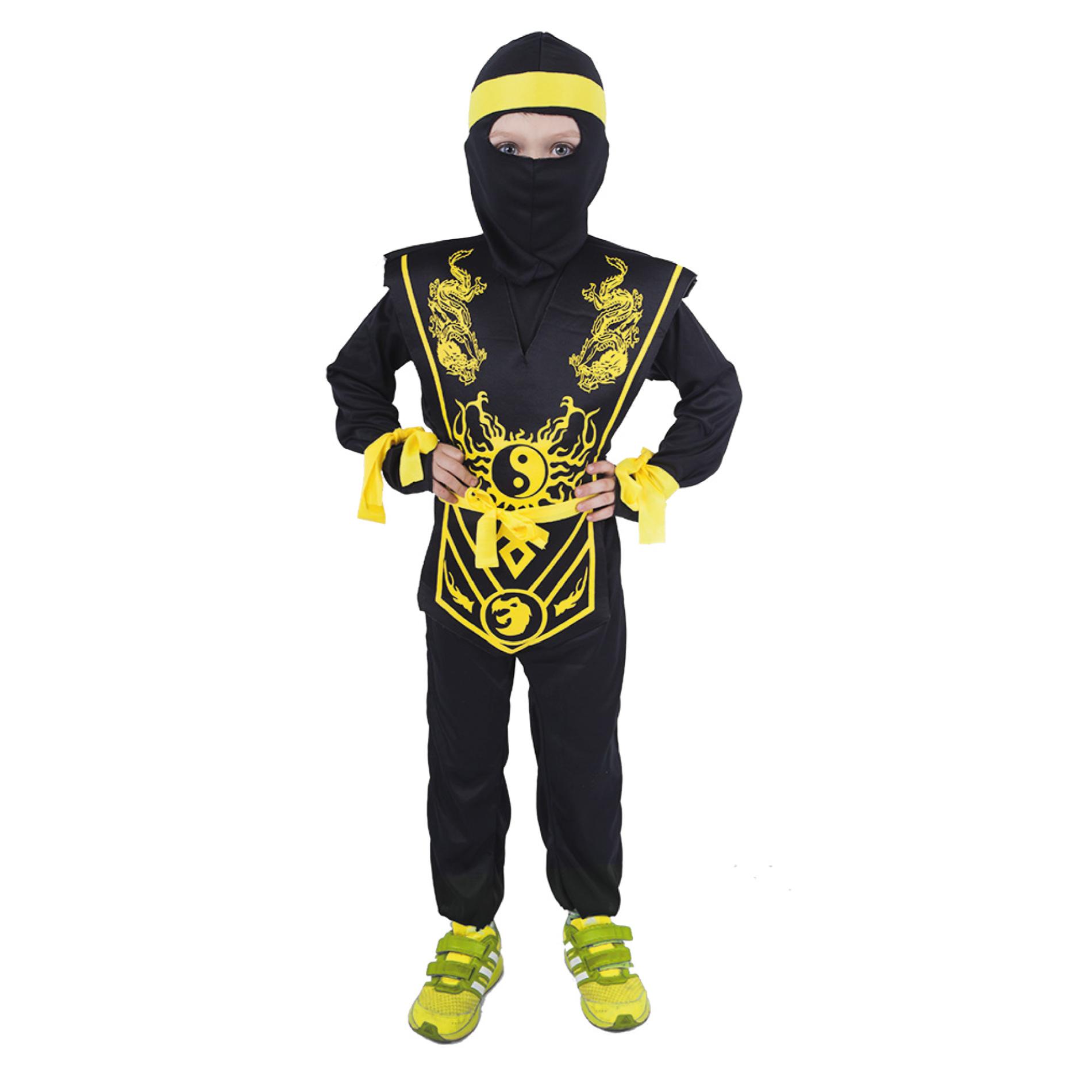 Dětský kostým žlutý ninja (S)